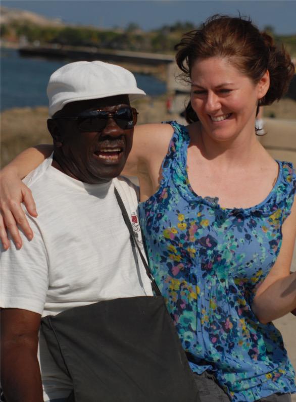Max and Tobin on Malecon, Cuba 2012