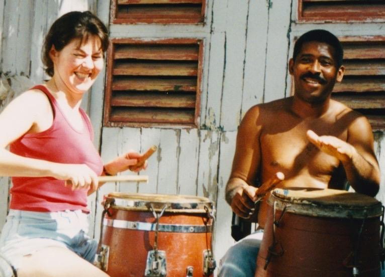Ramon and Linette Tobin, Santiago, 1999